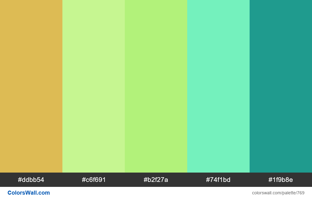 #colorswall random #302 colors palette - #769