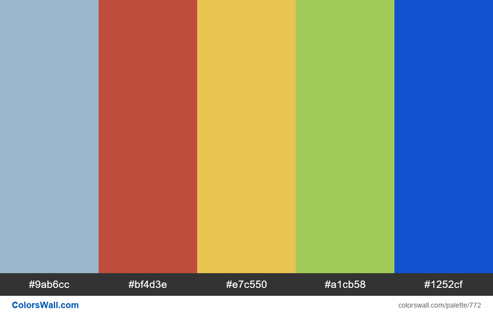 #colorswall random #305 colors palette - #772