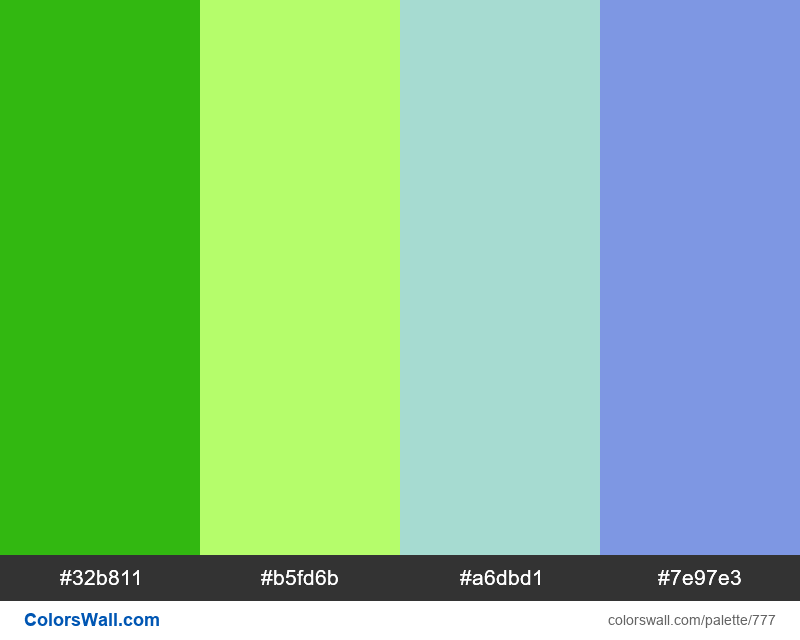 #colorswall random #310 colors palette - #777
