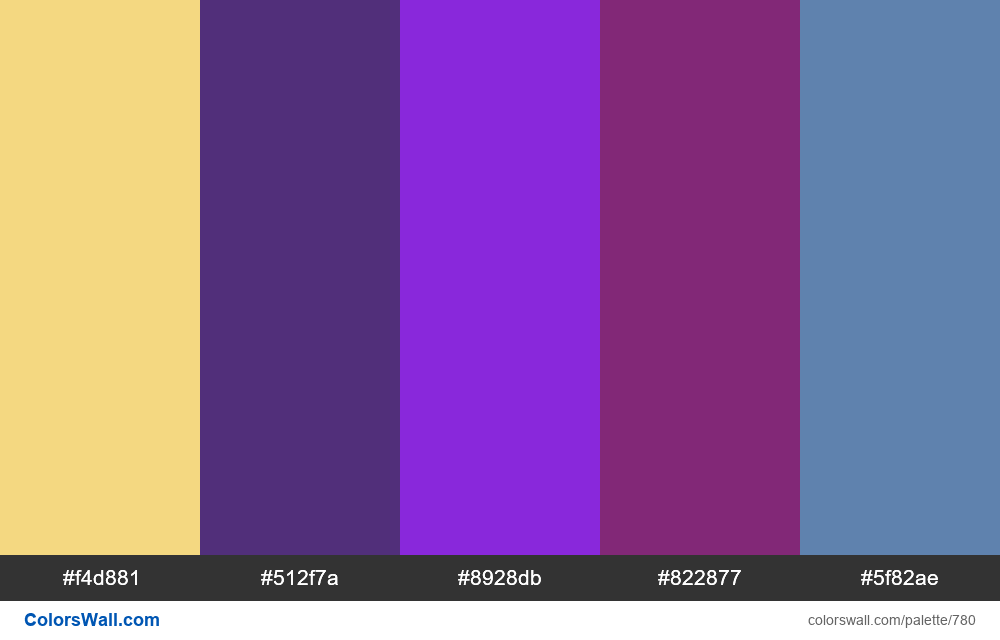 #colorswall random #313 colors palette - #780