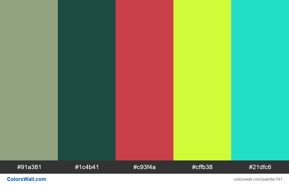 #colorswall random #314 colors palette - #781