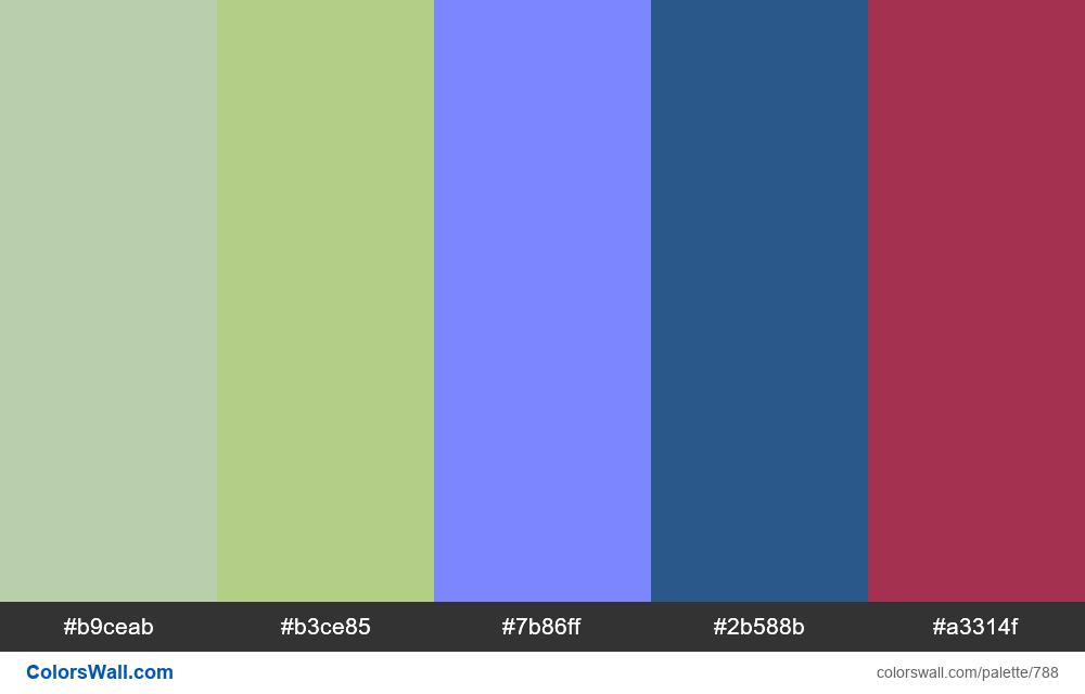 #colorswall random #321 colors palette - #788