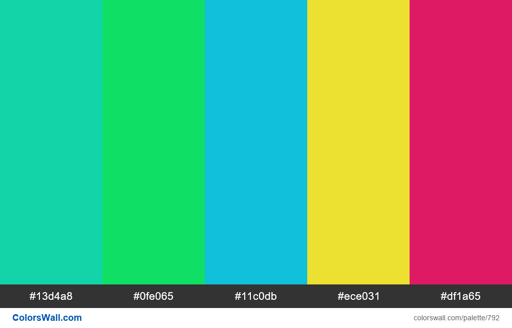 #colorswall random #324 colors palette - #792
