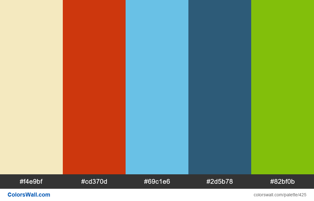 #colorswall random #33 colors palette - #425