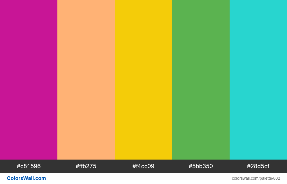 #colorswall random #334 colors palette - #802