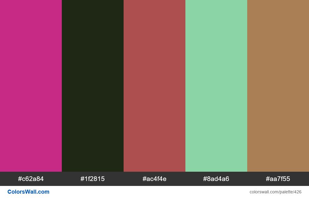 #colorswall random #34 colors palette - #426
