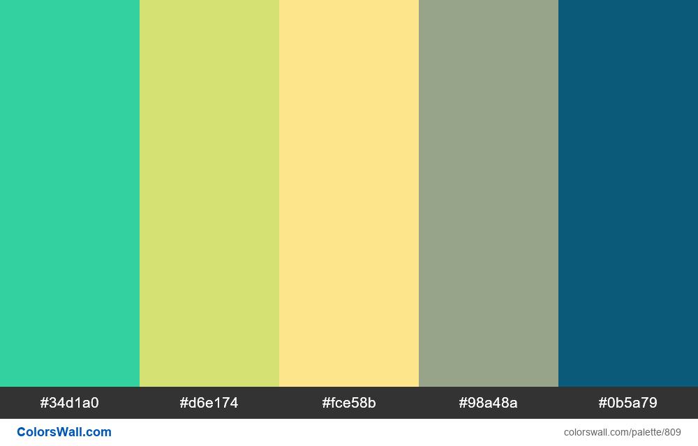 #colorswall random #341 colors palette - #809