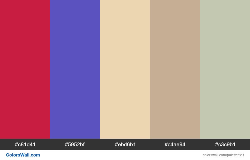 #colorswall random #343 colors palette - #811