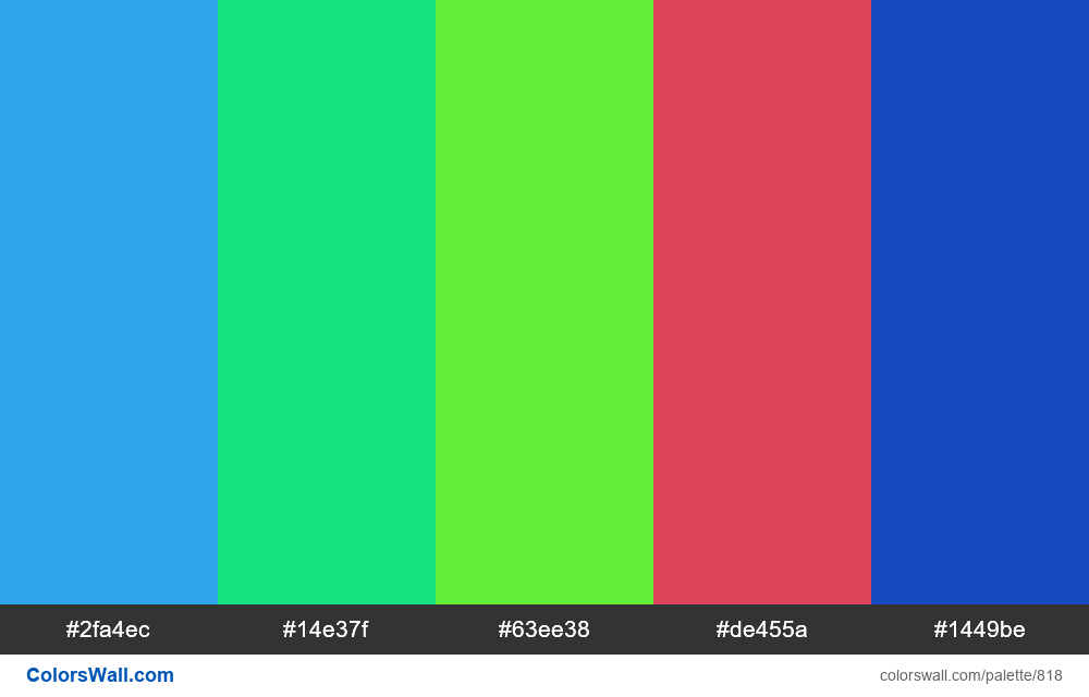 #colorswall random #348 colors palette - #818