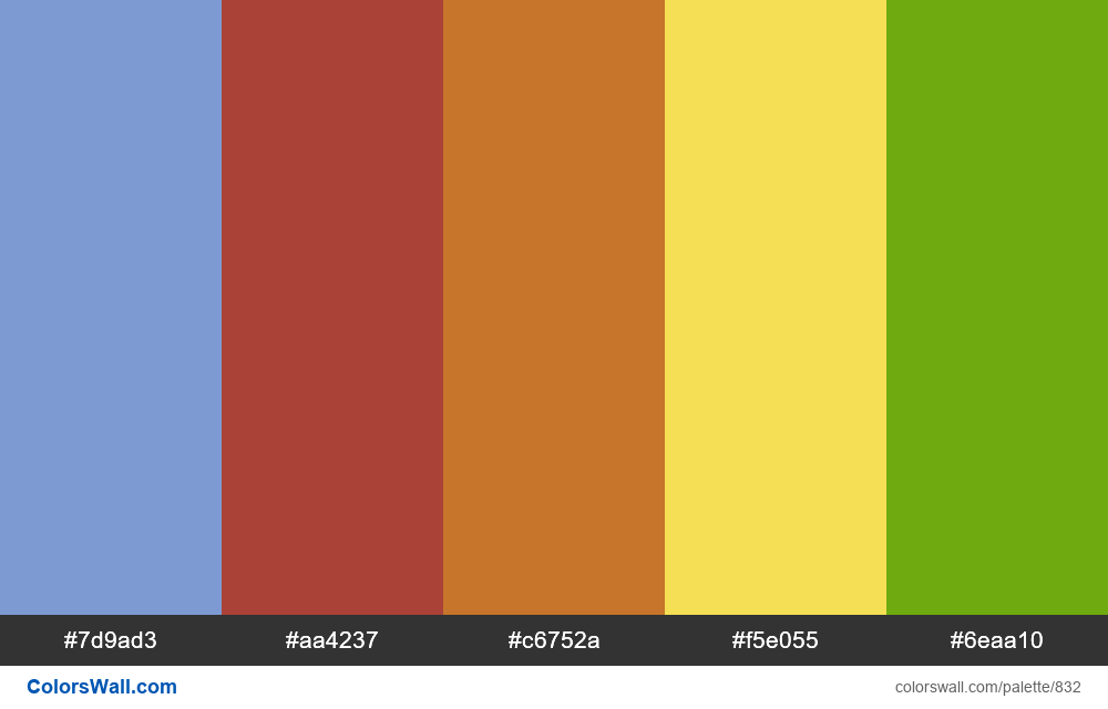 #colorswall random #360 colors palette - #832