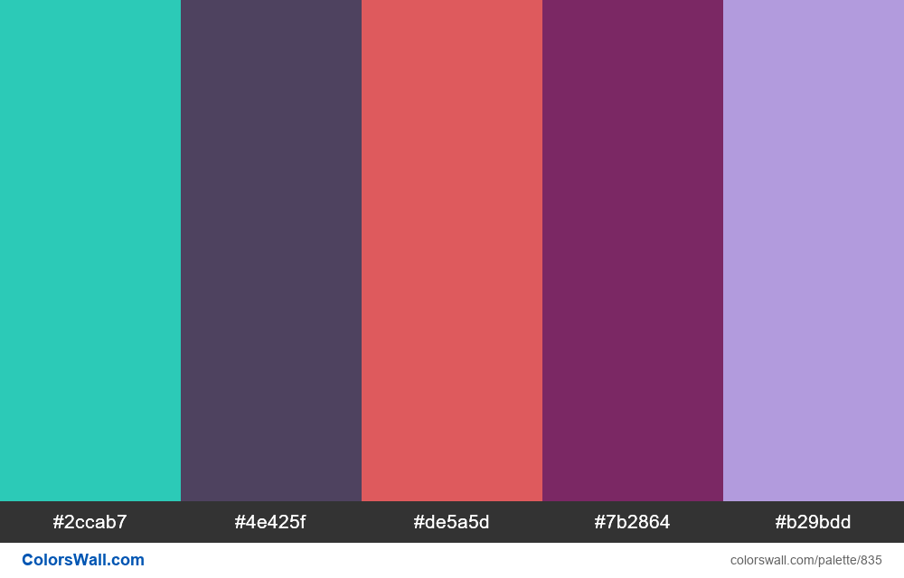 #colorswall random #363 colors palette - #835