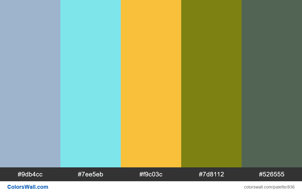 #colorswall random #364 colors palette - #836