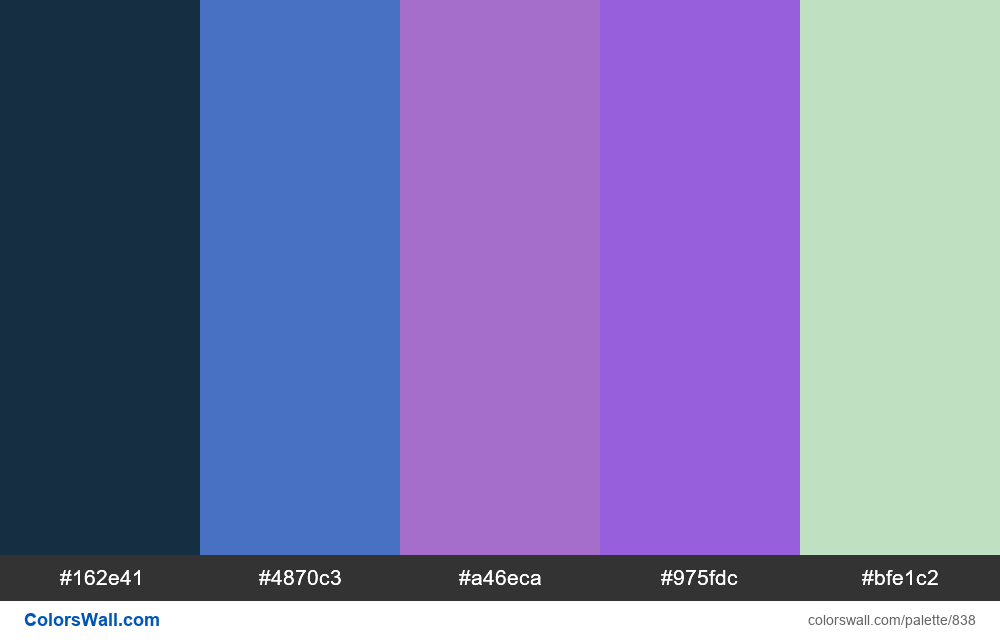 #colorswall random #366 colors palette - #838