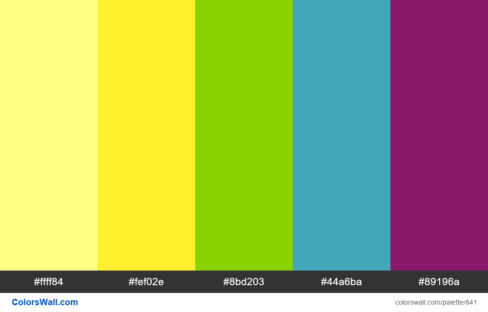 #colorswall random #369 colors palette - #841