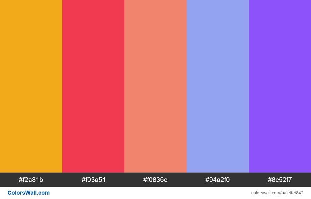 #colorswall random #370 colors palette - #842