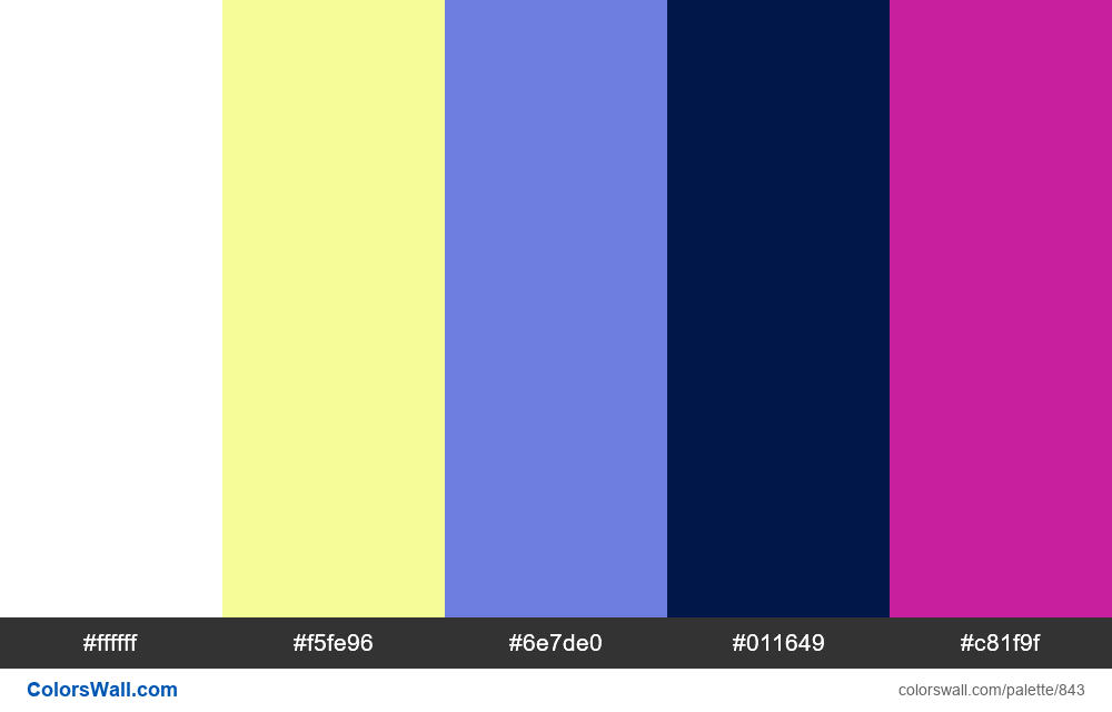 #colorswall random #371 colors palette - #843
