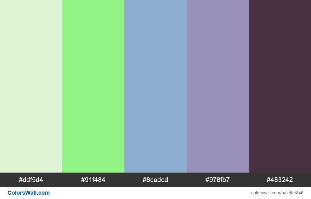 #colorswall random #374 colors palette - #846