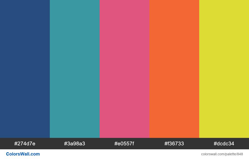 #colorswall random #376 colors palette - #848
