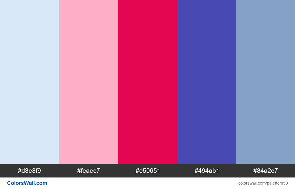 #colorswall random #378 colors palette - #850
