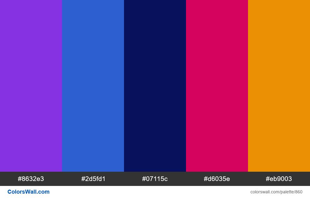 #colorswall random #378 colors palette - #860