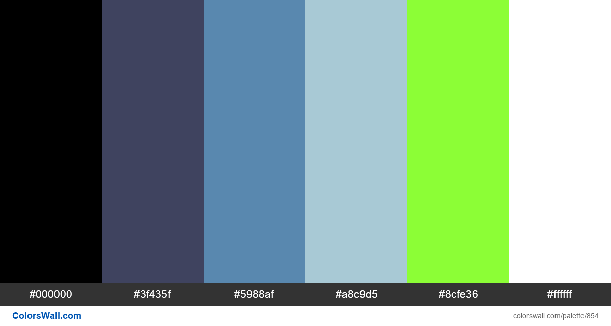 #colorswall random #382 colors palette - #854