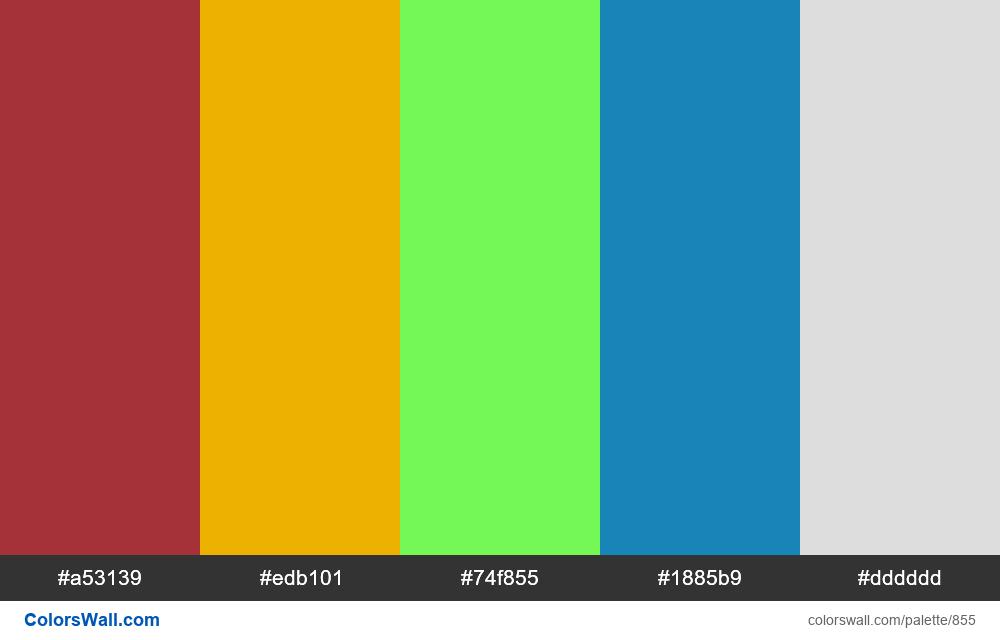 #colorswall random #383 colors palette - #855