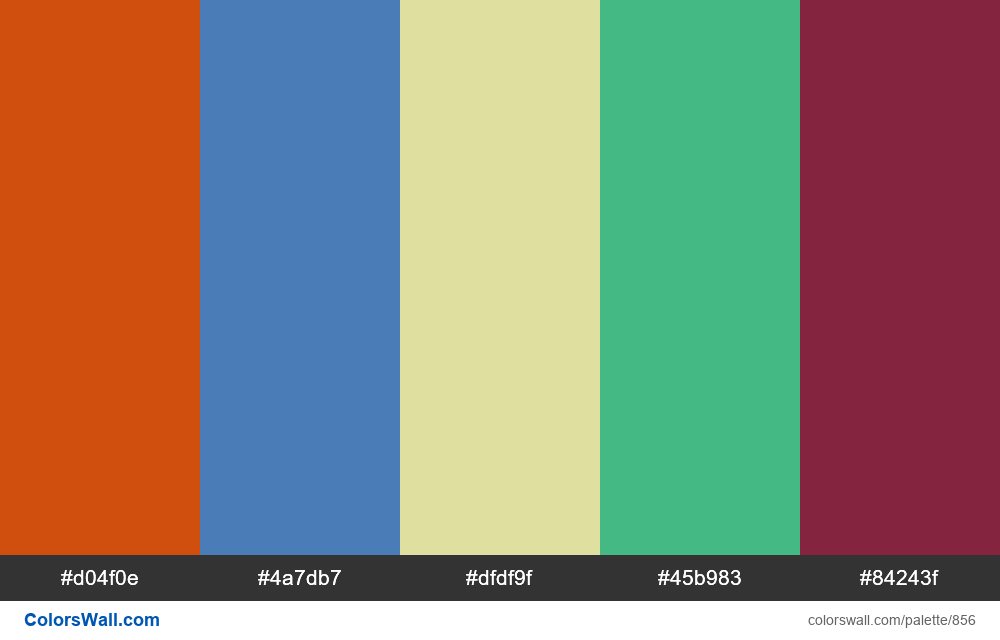 #colorswall random #384 colors palette - #856