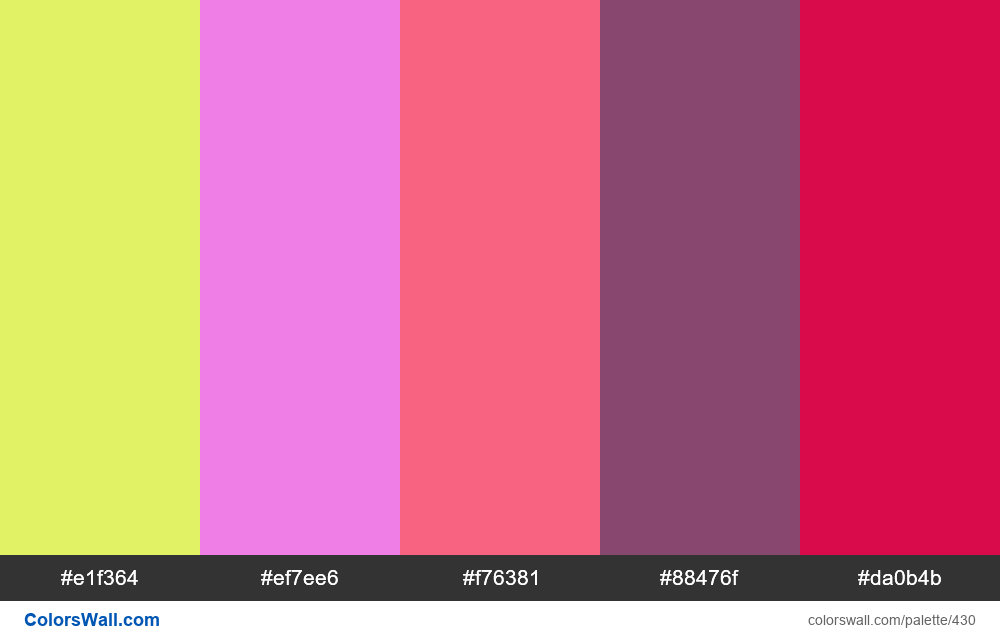 #colorswall random #39 colors palette - #430
