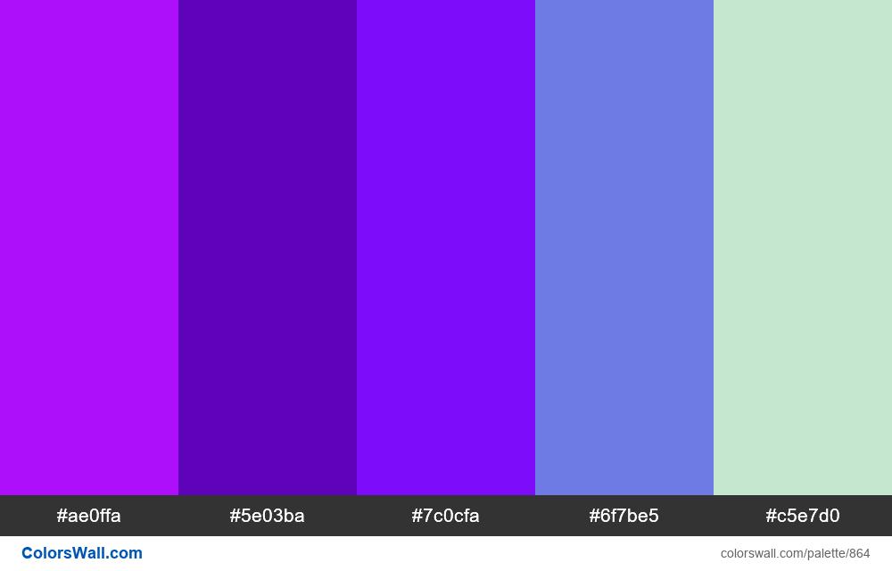 #colorswall random #392 colors palette - #864