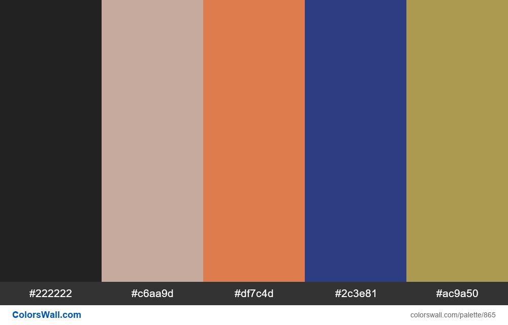 #colorswall random #393 colors palette - #865