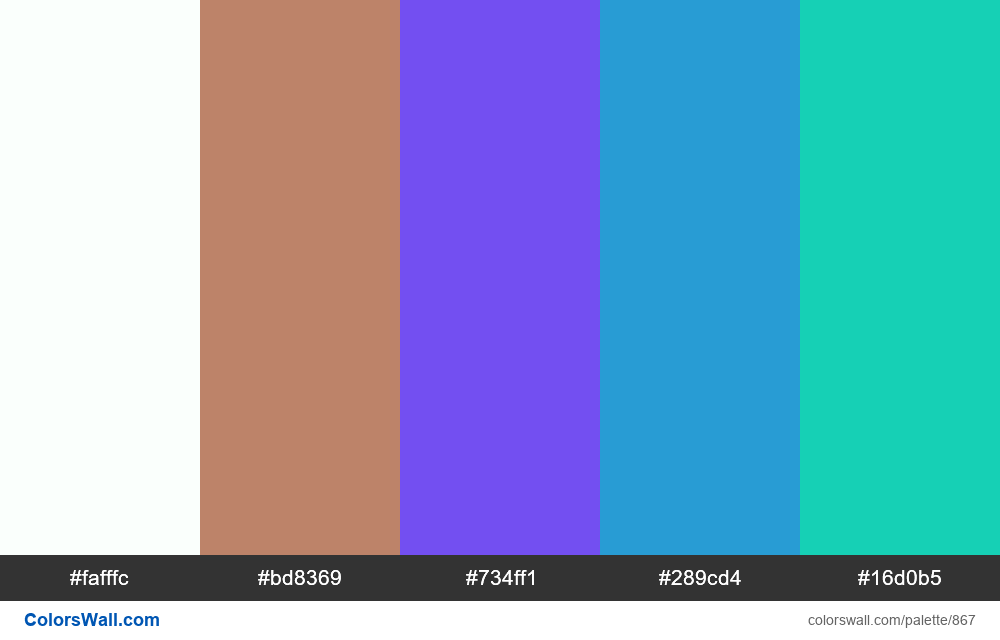 #colorswall random #395 colors palette - #867