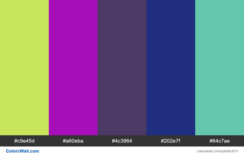 #colorswall random #399 colors palette - #873
