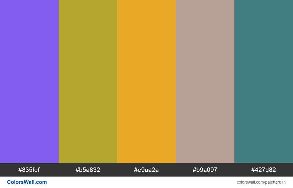 #colorswall random #400 colors palette - #874