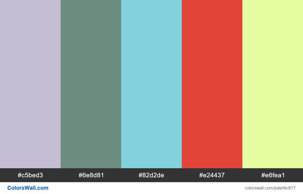 #colorswall random #403 colors palette - #877