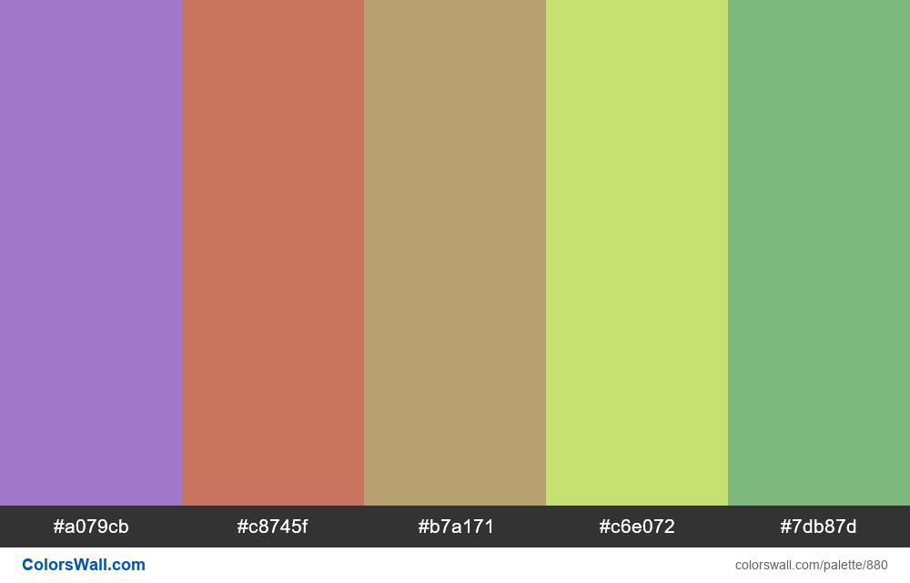 #colorswall random #406 colors palette - #880