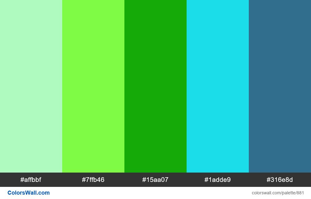 #colorswall random #407 colors palette - #881