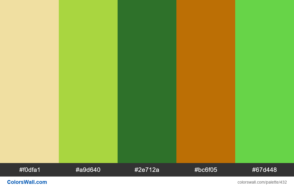 #colorswall random #41 colors palette - #432