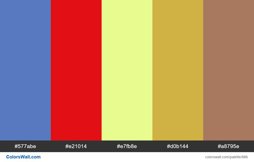 #colorswall random #412 colors palette - #886