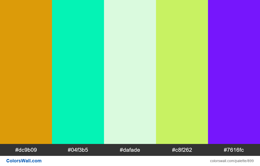 #colorswall random #415 colors palette - #899