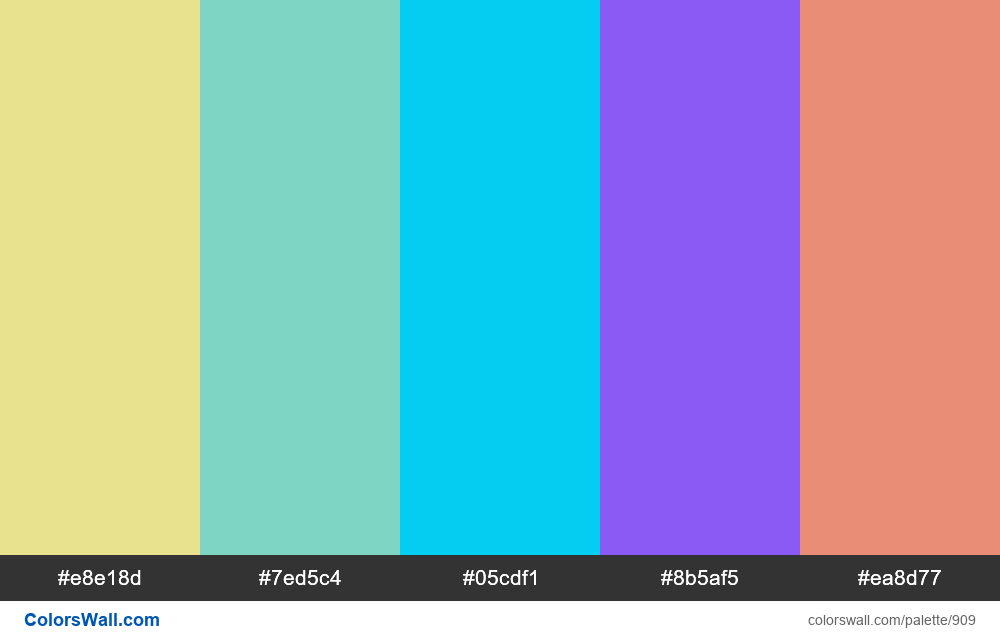 #colorswall random #425 colors palette - #909