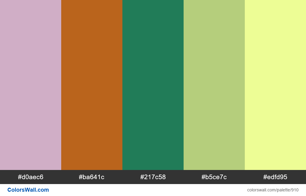 #colorswall random #426 colors palette - #910