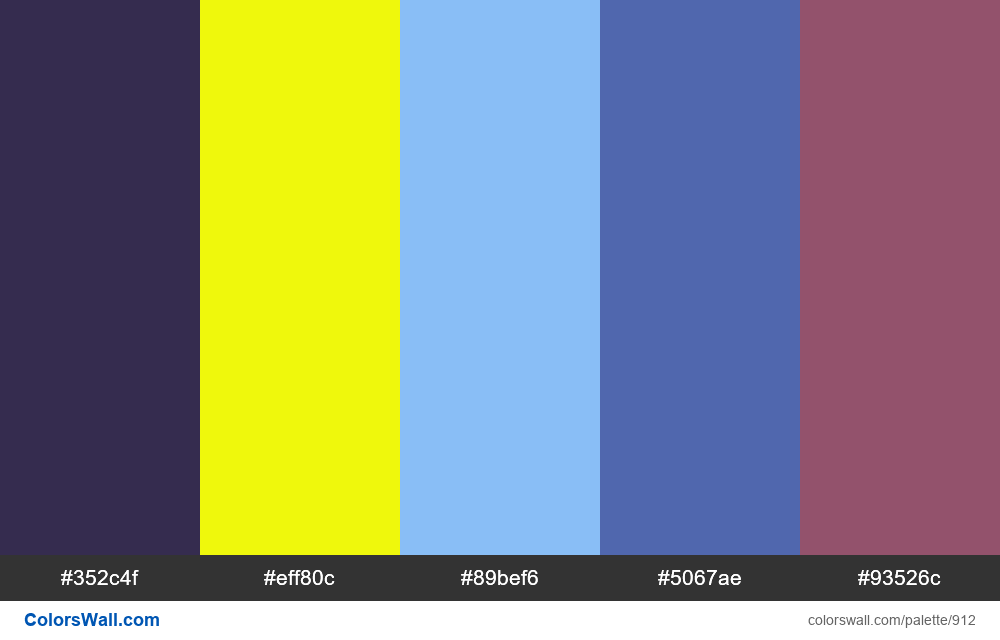 #colorswall random #428 colors palette - #912
