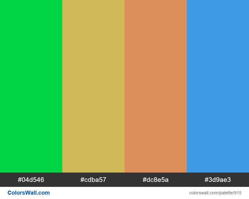 #colorswall random #431 colors palette - #915
