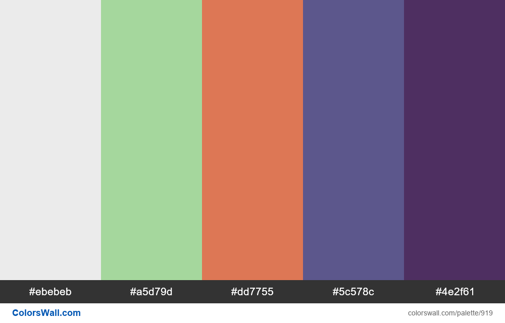 #colorswall random #435 colors palette - #919