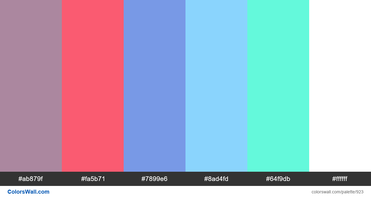 #colorswall random #437 colors palette - #923