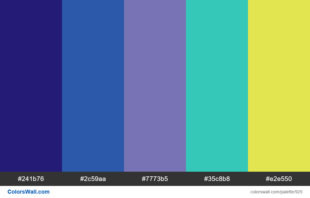 #colorswall random #439 colors palette - #925