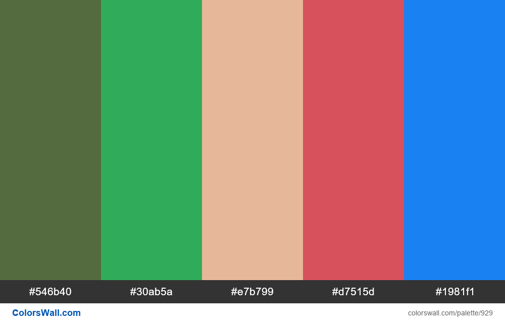 #colorswall random #443 colors palette - #929