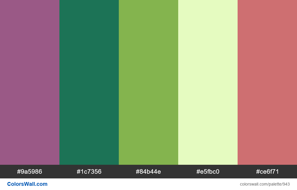 #colorswall random #446 colors palette - #943