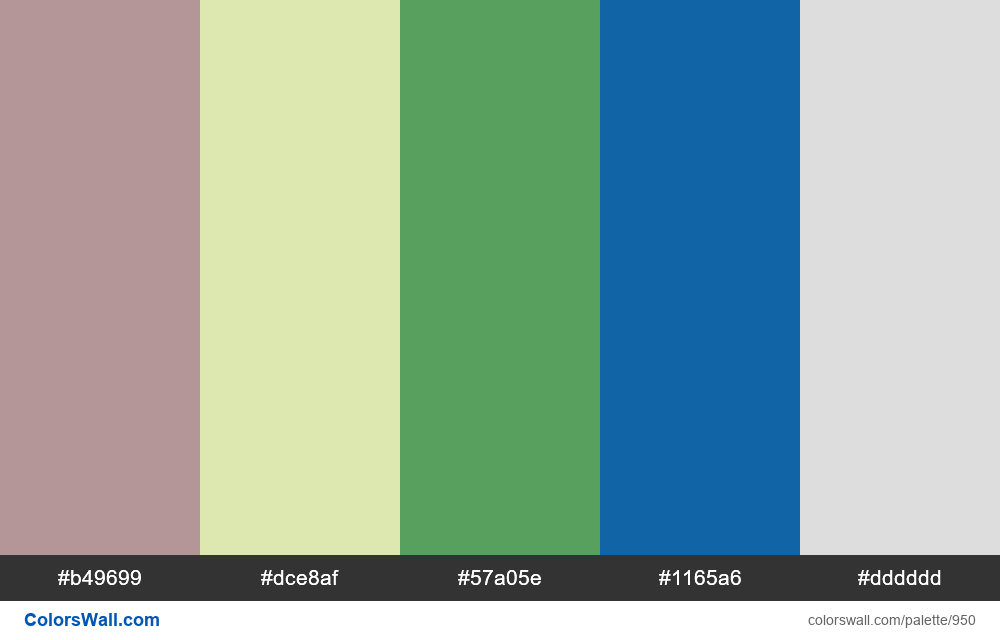 #colorswall random #447 colors palette - #950