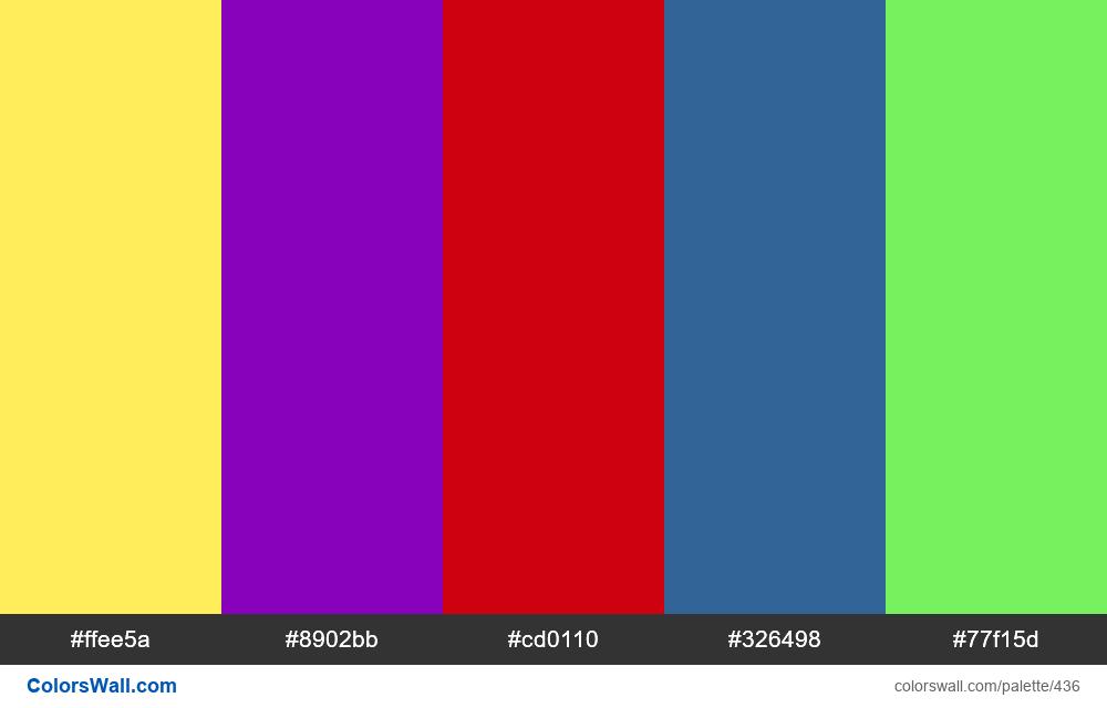#colorswall random #45 colors palette - #436
